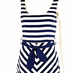 Pinkyotto Collection Maxi Dress Navy White Striped